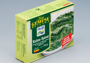 Our special solution for spinach and herbs from Frosta and Iglo.