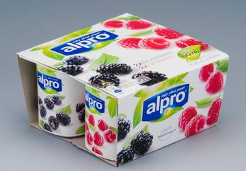 Packaging for Alpro-yoghurt