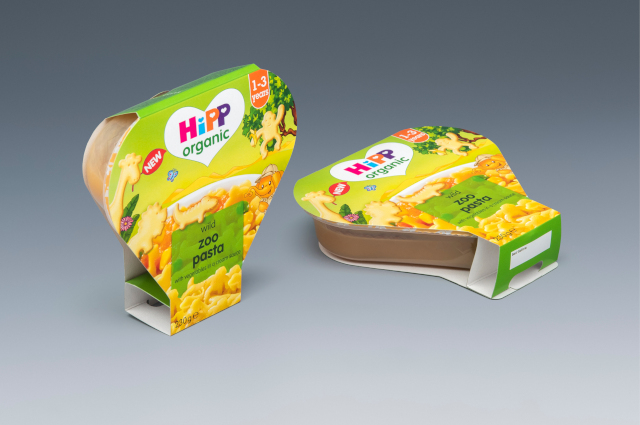 Our individual packaging for Hipp baby food.