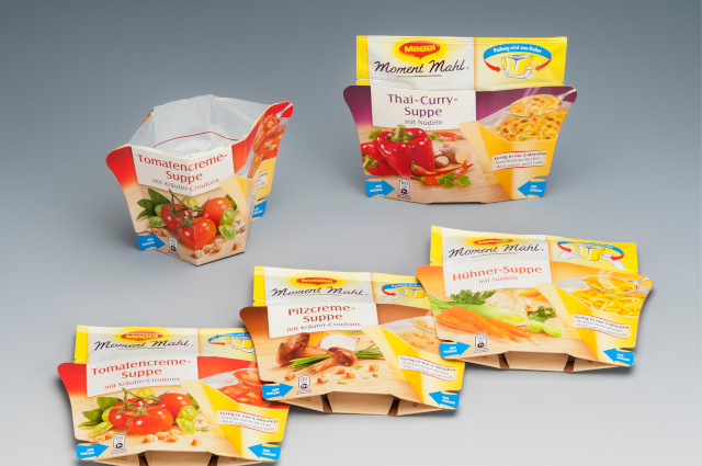 Our packaging for Maggie soups and sauces