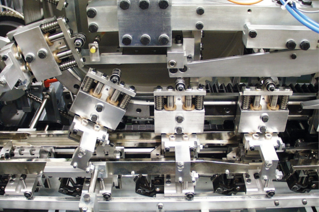 A Detailed view of a high-performance cigarette paper packaging line